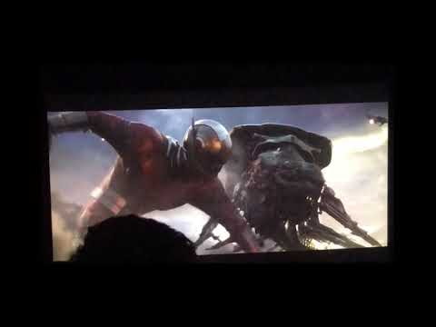 Avengers Endgame- Giant Ant-Man Punches Leviathan
