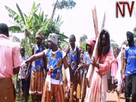 Nakaseke man re-enacts Jesus's journey to crucifixion