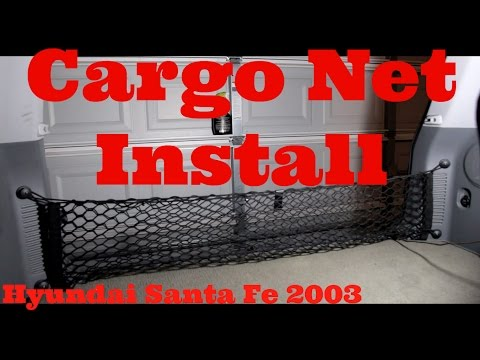Installing A Cargo Net And Anchors Hyundai Santa Fe (2003)