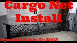 Installing A Cargo Net And Anchors Hyundai Santa Fe (2003)
