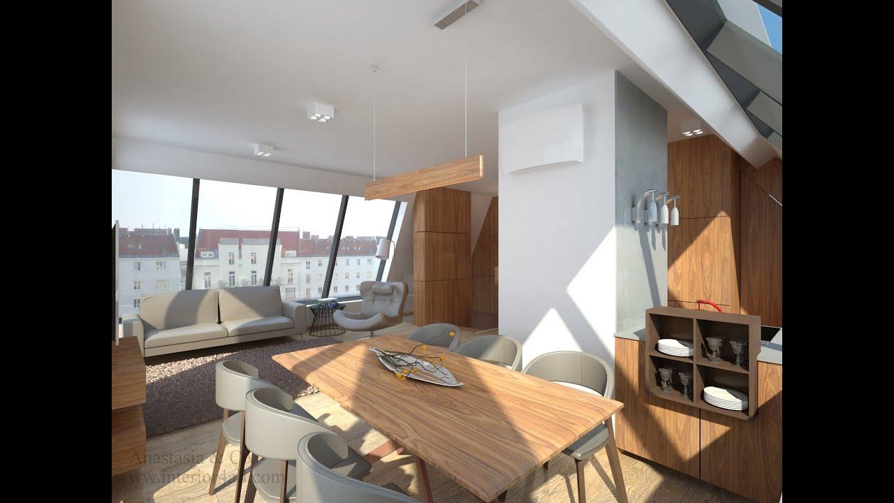Penthouse In Wien Eco Interior Design.Einrichtung Projekt. Www.anastasia  Interior.com   YouTube