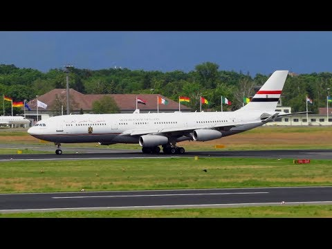 EGYPT Air Force One A340-200 [SU-GGG] Amazing Takeoff from Berlin Tegel Airport [Full HD]