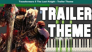 Transformers 5: The Last Knight Piano Tutorial - Free Sheet Music (Trailer Theme)