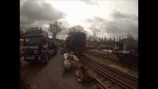 Sentinel No. 10077 Unloading Plym Valley Railway 01/04/15