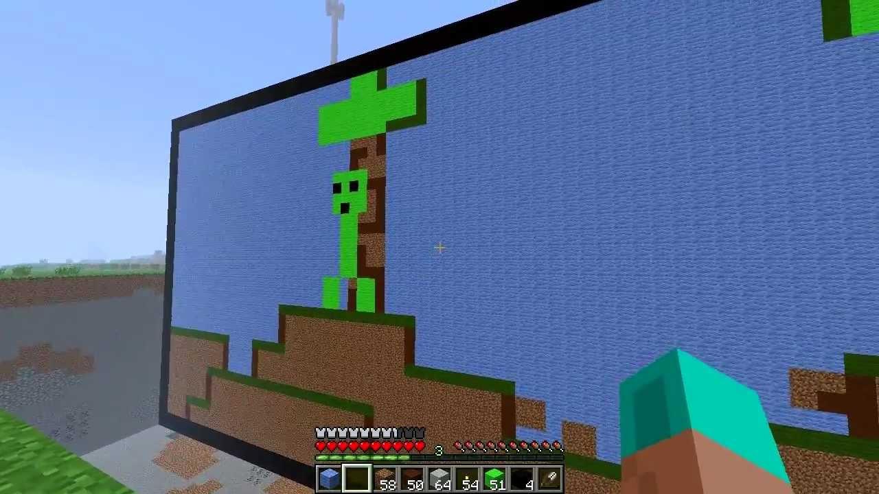 Minecraft in Minecraft (stop motion)