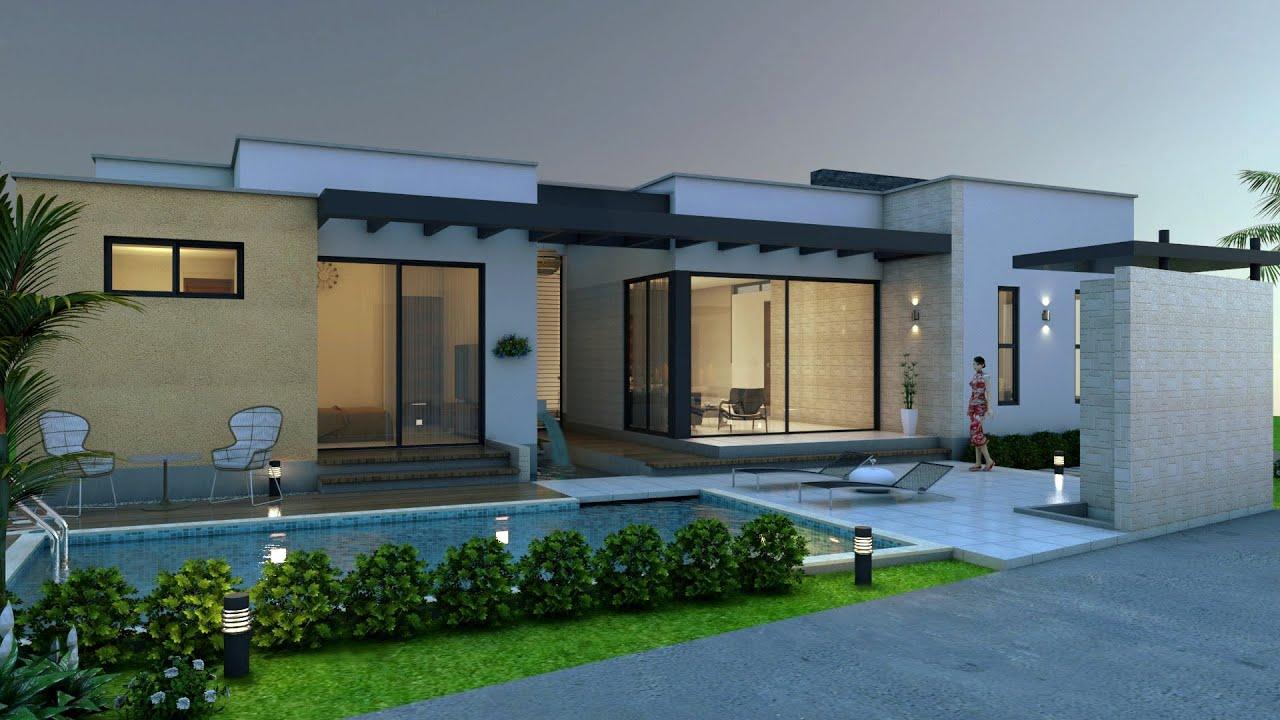 Plano De Casa Campestre Diseño Moderno En Un Piso 245 M2 Arquitecto Pablo Restrepo