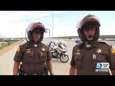 UHP motorcycle cops navigate record Utah heat