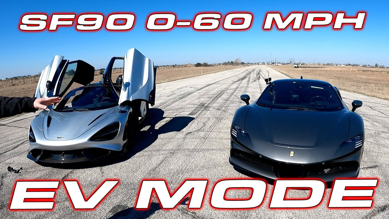Ferrari Sf90 Stradale 0 60 And 1 4 Mile Test In Electric Only Mode Shorts Youtube