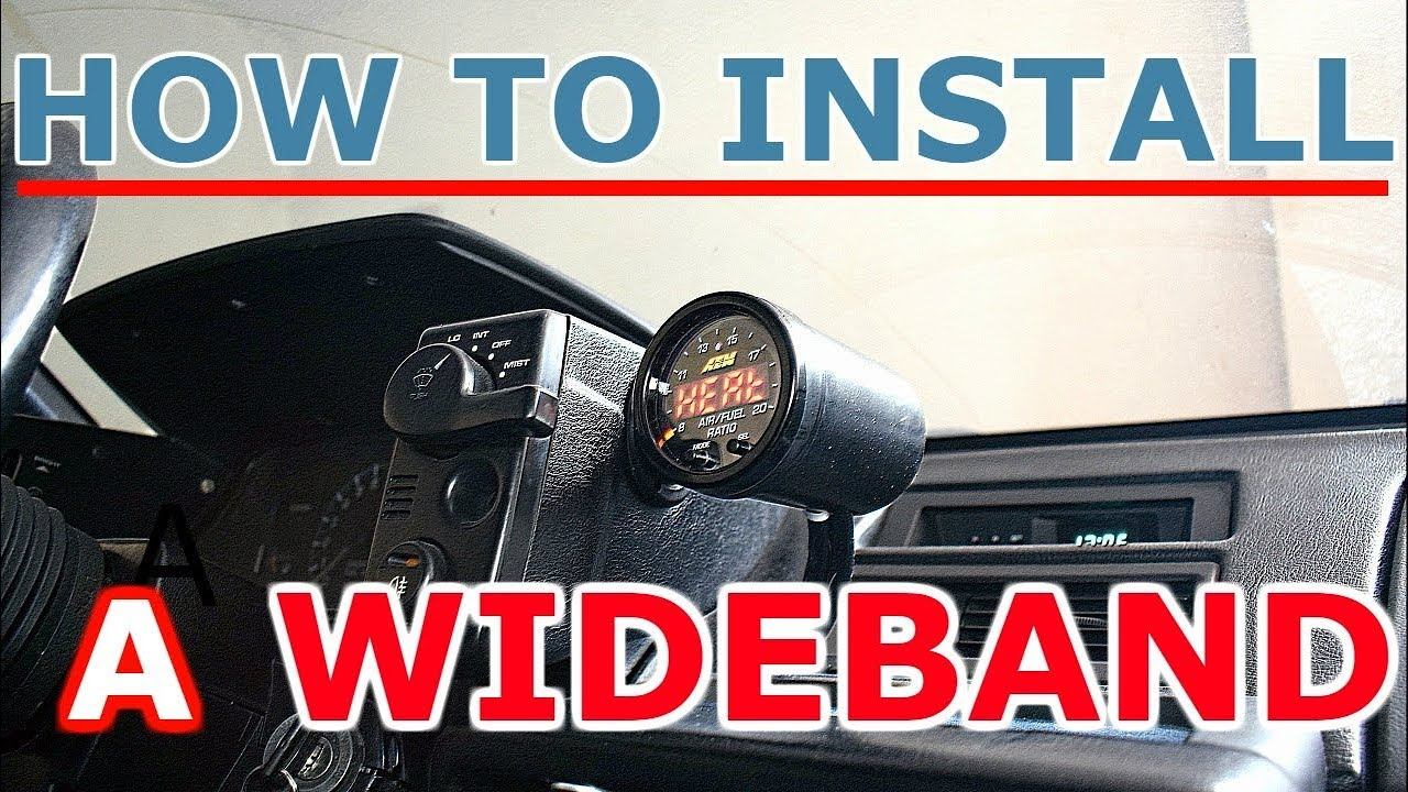 How to install a WIDEBAND gauge and sensor - AEM X-series AFR Aem Jtec Harness Wiring on