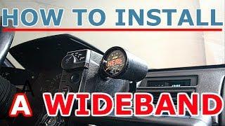 How to install a wideband gauge and sensor - AEM X-series AFR