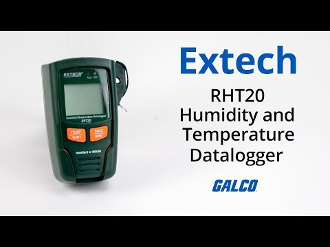 Extech's RHT20 Humidity And Temperature Datalogger