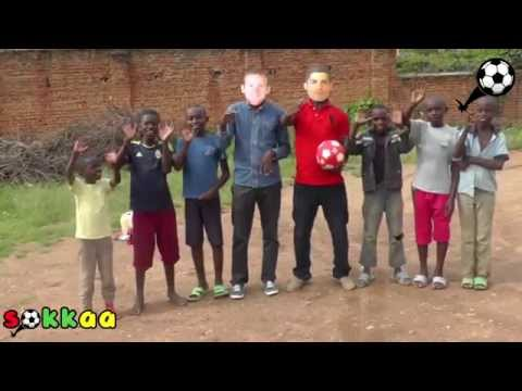 Rooney and Ronaldo visit their academy in Africa