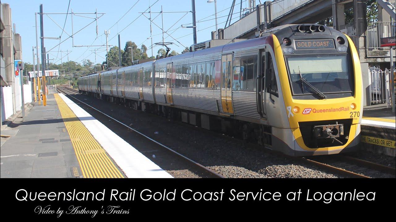 queensland rail gold coast service at loganlea youtube. Black Bedroom Furniture Sets. Home Design Ideas