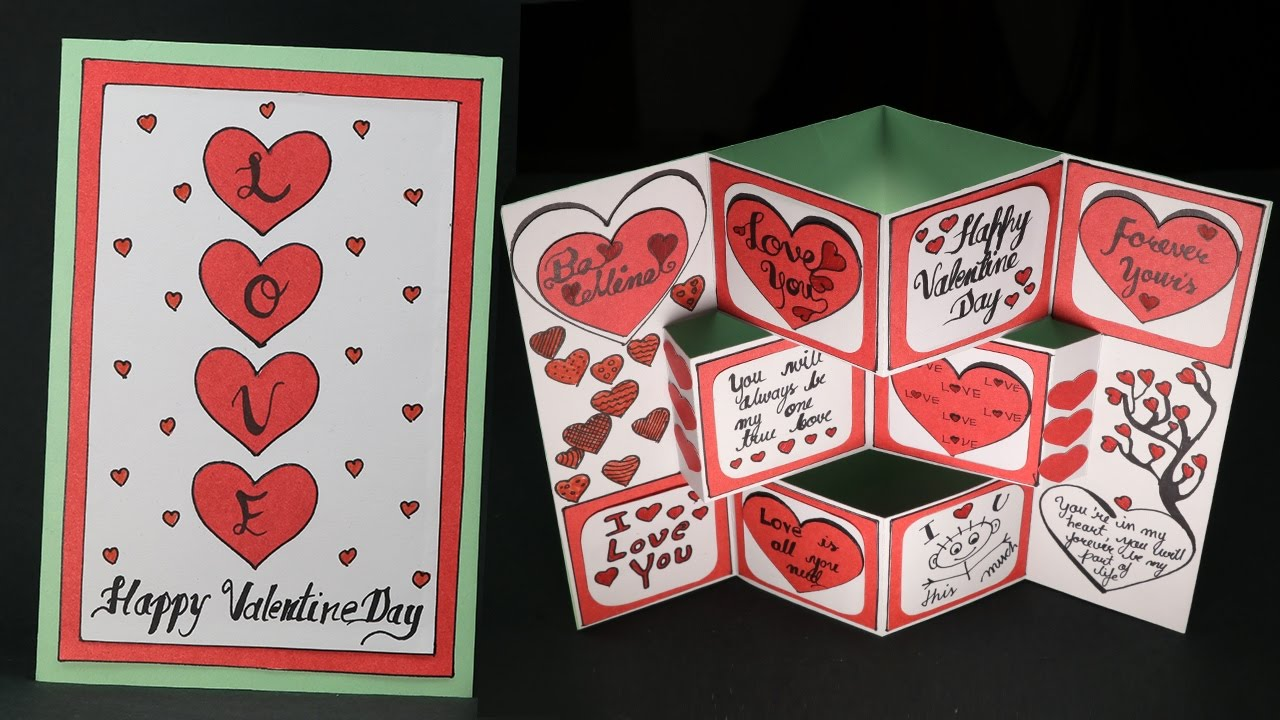 DIY Valentine Card  Pop Up Valentine Day Card Making Step by Step