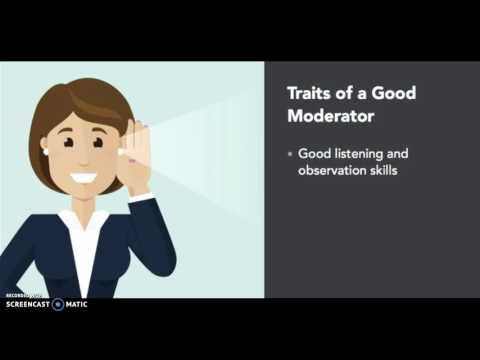 What makes a good moderator for a focus group?