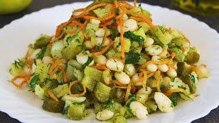 Легкий и Вкусный Постный Овощной Салат Простой Рецепт