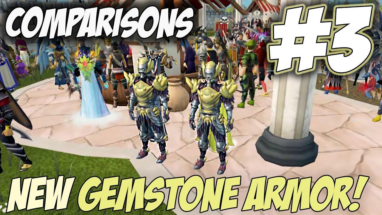 Comparisons Episode 3 Gemstone Armour Review Runescape 3 Reviews