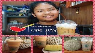 Cold cappuccino And melon shakes