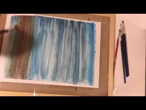 Short watercolor landscape painting
