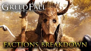 Greedfall - All Factions Breakdown Analysis (with Gameplay Footage)