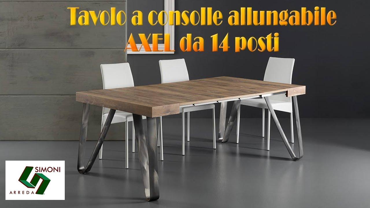 Tavolo consolle allungabile modello axel da 325 cm youtube for Simoni arreda milano
