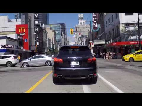 Driving in Downtown Vancouver BC Canada 2017 - Granville Horby & Howe Street - City Centre