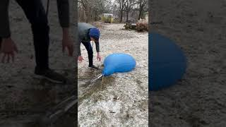 Freezing Giant water balloon trial 1 #shorts