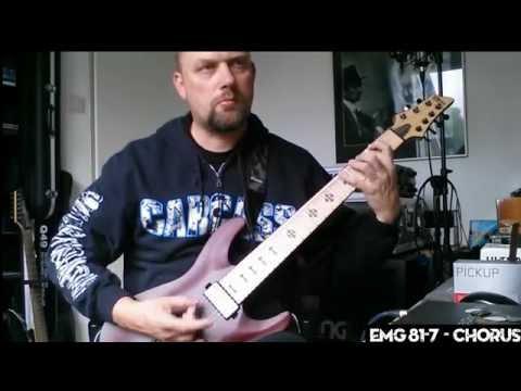 EMG 707 vs 57-7 vs 81-7 Pickup Comparison (full mix)