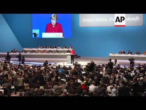 Merkel delivers speech to CDU party congress