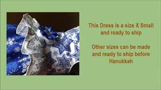 Dog Dress for Hanukkah 2018 I Chanukah I Dog clothes I Dog Dress