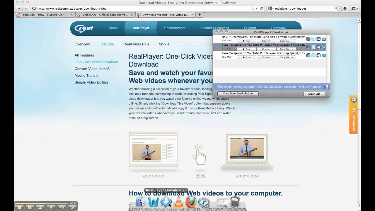 Speed Up YouTube Playrate with VLC and RealPlayer