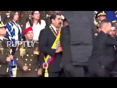MOMENTO EXACTO DEL ATENTADO CONTRA MADURO 04 DE AGOSTO 2018  CARACAS VENEZUELA