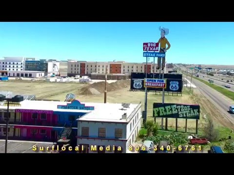 Amarillo Texas aerial video April 2 2016