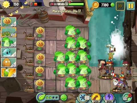 Plants Vs Zombies 2 Mares Piratas Dia 17