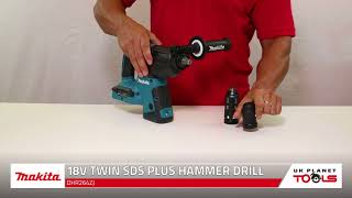 Makita DHR264ZJ 18V Twin SDS Plus Hammer Drill With Makpac Type 4 Connector Case | UK Planet Tools
