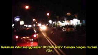 Tes Kogan Action Camera Pada Malam Hari