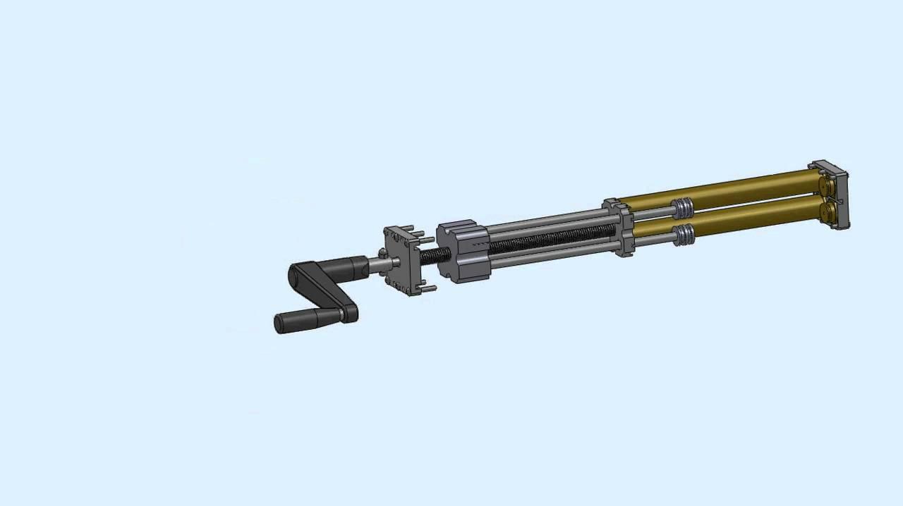 Hand Crank Hydraulic Lift Mechanism Youtube