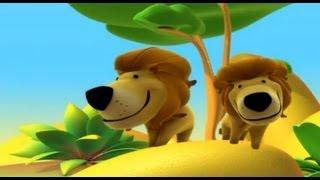 Hayvanlar hakkında Bilgi edinmek için Ormanda Aslan, Alex - Çizgi film, çocuklar için