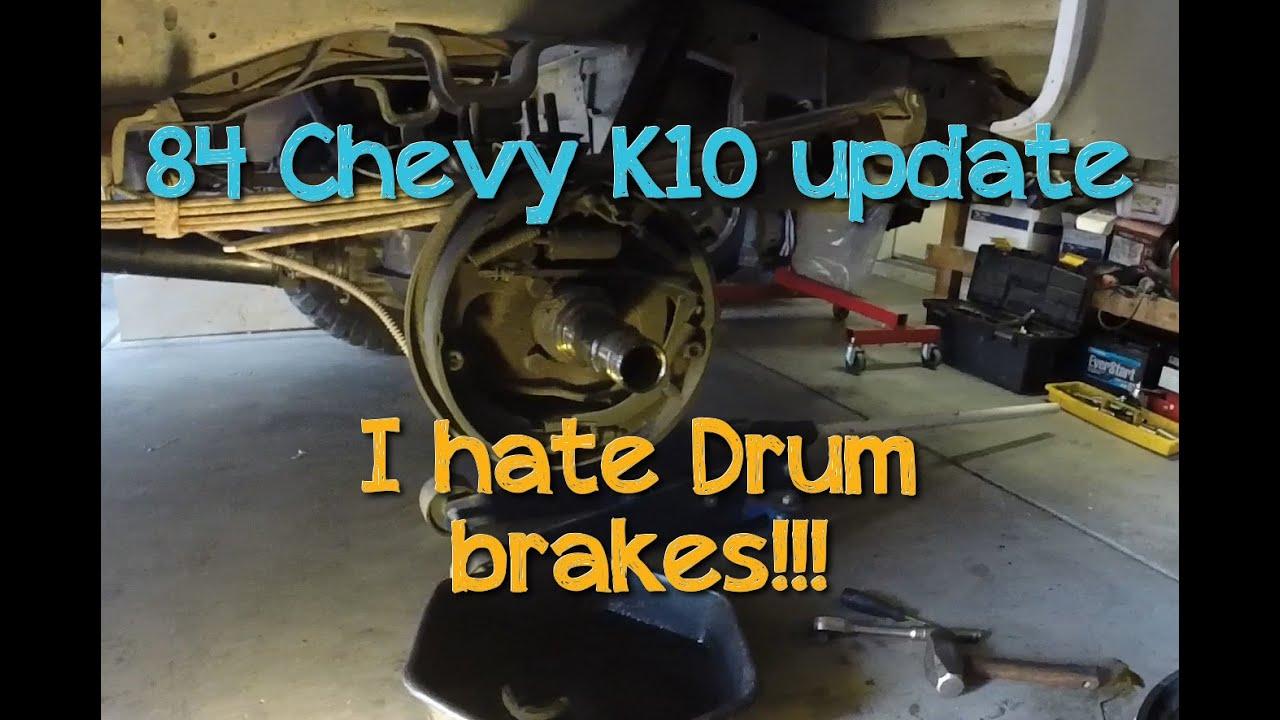 84 Chevy K10 I Hate Drum Brakes Youtube
