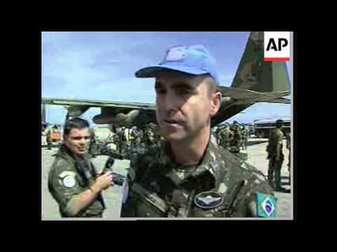 US marines in aid effort, Brazil troops arrive