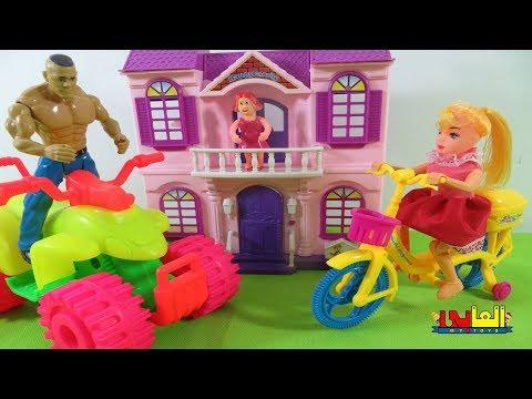 WWE wrestling figures match , WWE John Cena &  wild animails,   fun toys for kids