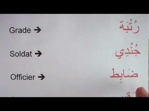 Vocabulaire - Les grades militaires.