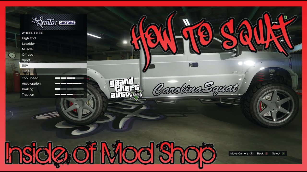 gta 5 how to squat inside of mod shop youtube. Black Bedroom Furniture Sets. Home Design Ideas