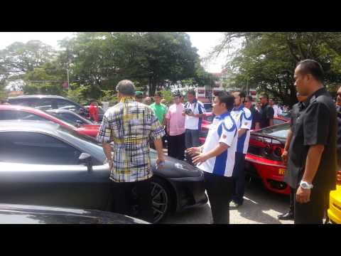 Supercar drive with Sultan Johor