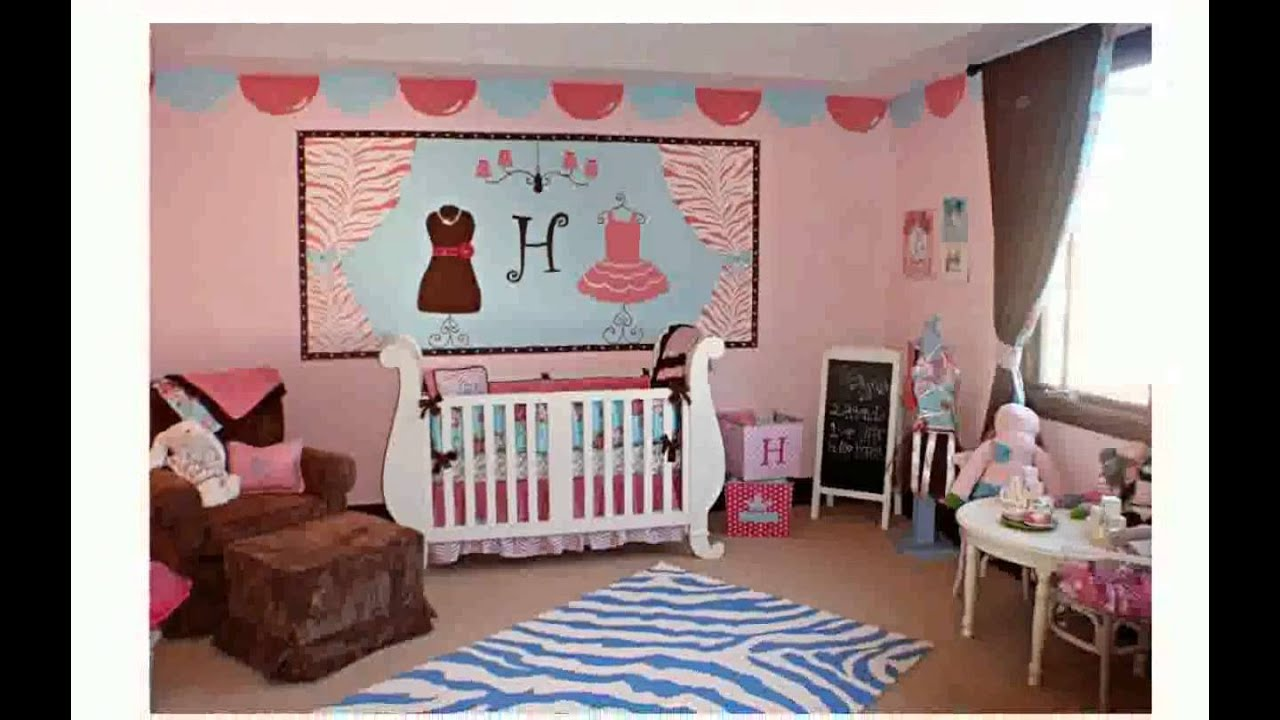 Baby girls room decorating ideas freyalados youtube for Baby girl decoration room