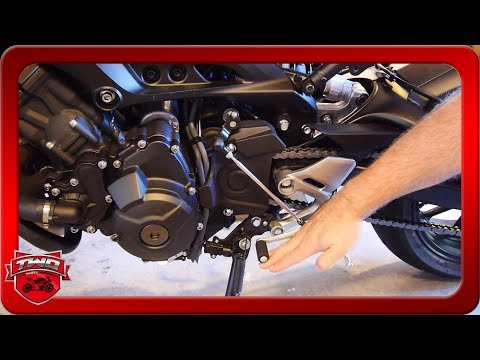 How To Adjust FZ09 MT09 FJ09 Motorcycle Shifter And Brake Pegs