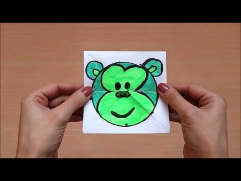 DIY PAPER MAGIC CARD   FUNNY PAPER GAME FOR KIDS   FACE CHANGER TUTORIAL