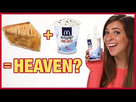 Apple Pie McFlurry At McDonalds?! Taste Test With The Gabbie Show!