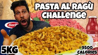 PASTA AL RAGÙ Challenge 5KG - Italiano Cheat day - MAN VS FOOD (ENG SUB)