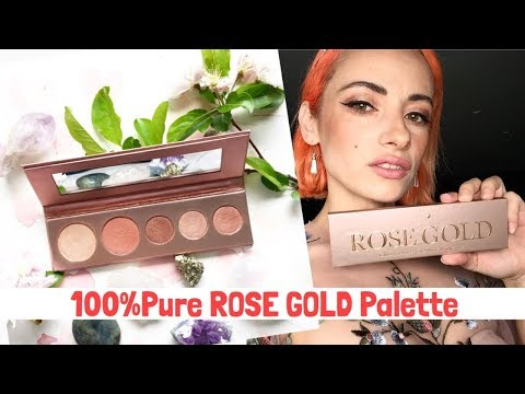 100%Pure ROSE GOLD Palette REVIEW &🌟🌟🌟 GIVEAWAY 🌟🌟🌟 thumbnail